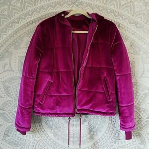 F21 Velvet Coat size Medium